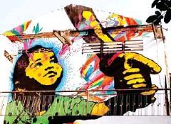 ?? SUPPLIED ?? Stinkfish's famous Kathmandu Girl mural.