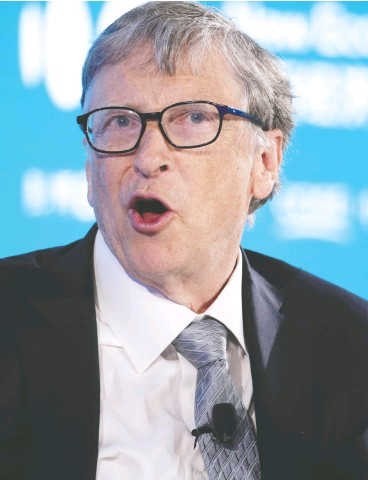 "?? JASON Lee / reuters FILES ?? ""The idea is to get innovation, including R&D, onto the agenda … not just looking at the easy stuff,"" Microsoft founder Bill Gates said of the UN climate conference in Glasgow."