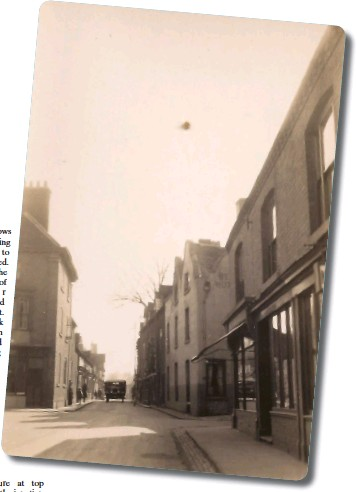 ??  ?? Market Street showing Bell Hotel, 1931