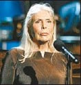 ?? MAX MORSE, REUTERS ?? Joni Mitchell today, above, and as she looked in the late Sixties, her Blue period, top.