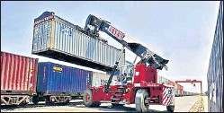 ?? AFP ?? The FIEO said the continuing growth in India's exports shows order books keeping in step with the gradual opening up of major global markets.