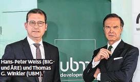 ??  ?? Hans-Peter Weiss (BIG und ÅRE) und Thomas G. Winkler (UBM).