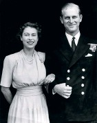 ?? HULTON/GETTY HANNAH MCKAY/AFP/ GETTY ?? ▼ The official engagement photo of the royal couple ▲ Prince Philip embodied the idea of duty