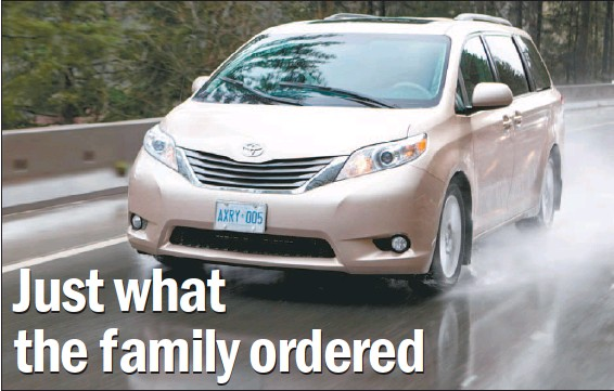 ?? PAUL GIAMOU, NATIONAL POST ?? The 2011 Toyota Sienna marks the return of the four-cylinder engine with the 2.7-litre motor putting out 187 horsepower and 186 pound-feet of torque.