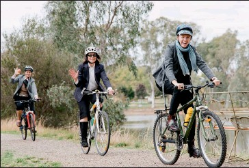??  ?? Events such as the Winemakers of Rutherglen's Tweed Ride will benefit from Indigo Shire's continued focus on making the region an attractive cycling and walking destination