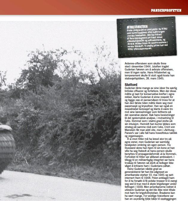 ?? Foto: Bundes Archiv / Arppe ?? En Pantherstridsvogn–Panzer V i Frankrike sommeren 1944.