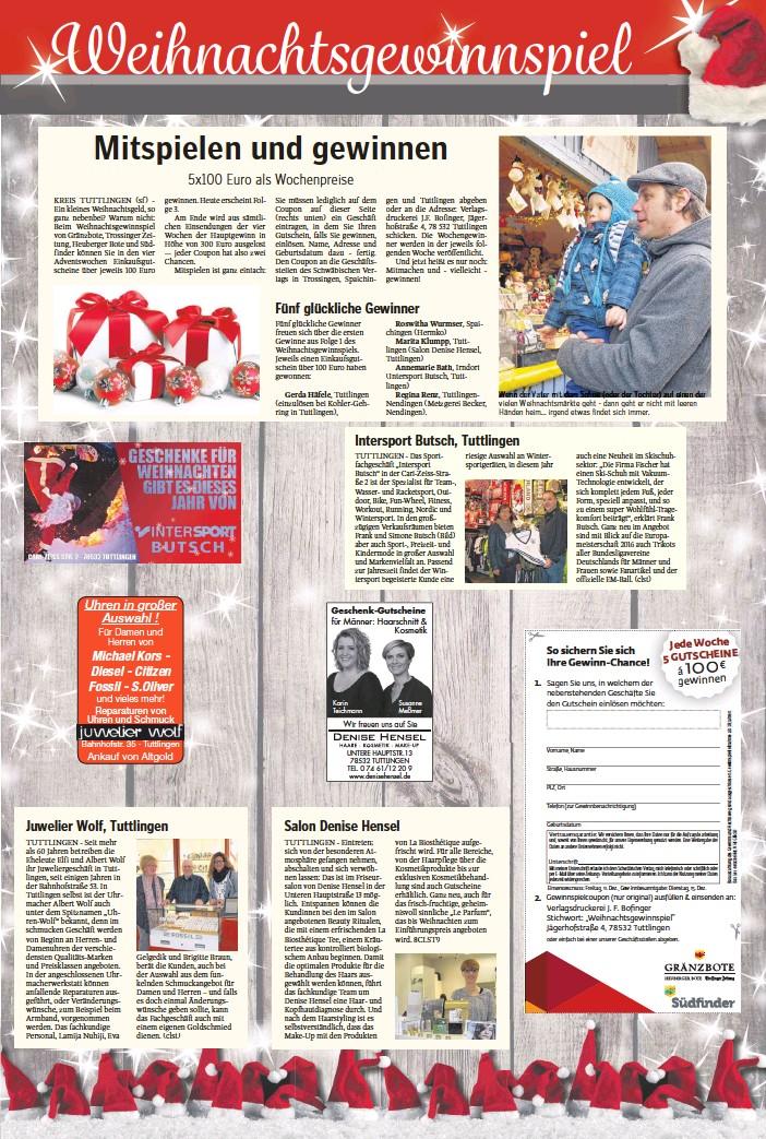 401a800512647 PressReader - Trossinger Zeitung  2015-12-08 - Fünf glückliche Gewinner