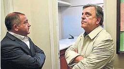?? LA VOZ /ARCHIVO ?? NEGOCIACIÓN. Juez y Negri mantienen un diálogo, pero la unidad parece lejana.