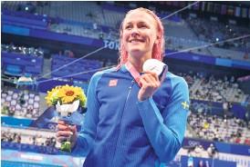 ?? Bild: Jonas Ekströmer ?? Efter Os-silvret i Tokyo ska Sarah Sjöström jaga medaljer i dubbla mästerskap under hösten.
