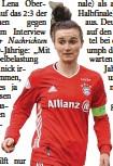 ?? Foto: dpa ?? Bayern‰Spielführerin Lina Magull.