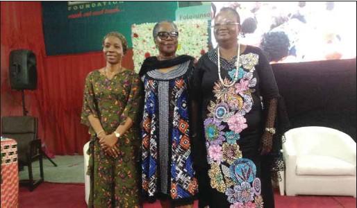 ??  ?? L-R: Ms Comfort Lamptey, Onyeka Onwenu and Mrs Olajumoke Barkare