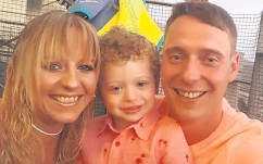 ??  ?? Family first Nicola with son James and fiance Peter