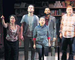 "?? | PHOTO BY JONATHAN L. GREEN ?? Daria Harper (from left), Matt Fletcher, Deanna Myers, David Hamilton and Noah Sullivan star in ""The Golden Dragon."""