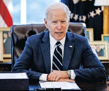 ?? | REUTERS ?? ON HIS 105th day in office this week US President Joe Biden announced that his government would support the waiving intellectual property protections for Covid-19 vaccines in the face of a global health crisis.