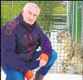 ??  ?? Bake Off star Paul Hollywood at the Big Cat Sanctuary