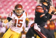 ?? CollegePressBox ?? USC safety Talanoa Hufanga isn't real big, and he has been injured, but he hits like a linebacker.