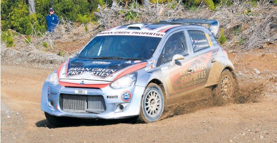 ?? Pictures / INMOTION/Greg Henderson ?? 2017 runner-up Matt Summerfield (above) will contest this year's New Zealand Rally Championship in the Ralliart NZ Mitsubishi Mirage AP4. Hayden Paddon (left) will be looking to continue the winning form he displayed last year.