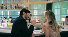 ??  ?? MICHIEL Huisman with Kaley Cuoco in a scene from the series.