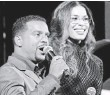 ?? KELSEY MCNEAL, ABC ?? Alfonso Ribeiro and Jordin Sparks kick up their heels.