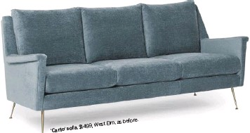 ??  ?? . Elm, as before $1499, West 'Carlo' sofa,