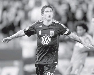 ?? JOHN MCDONNELL/THE WASHINGTON POST ?? Former D.C. United forward Jaime Moreno is one of two MLS players with 100 goals and 100 assists.