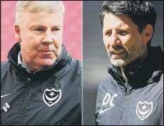 ??  ?? PAST AND PRESENT Former Pompey boss Kenny Jackett, left, and current chief Danny Cowley