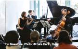 ??  ?? Trio Maestrale. Photo: © Sara Barth, Basel