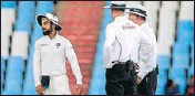 ?? AFP ?? Kohli had complained about ball getting wet in damp outfield.
