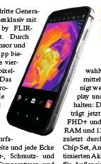 ??  ?? Das Cat S62 Pro dürfte eins der robustesten Smartphones auf dem Markt sein.