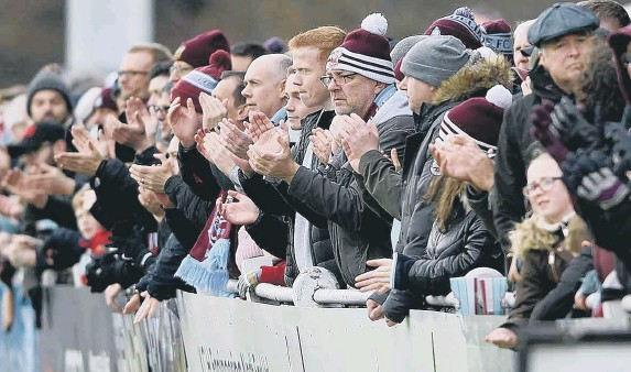??  ?? South Shields fans, who have been sent gifts and messages of hope from the club during the pandemic.