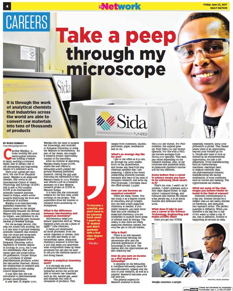 PressReader - Daily Nation (Kenya): 2017-06-23 - Caroline Wanjiku is