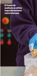 ??  ?? El hueso de aceituna se utiliza mayoritariamente como biomasa.