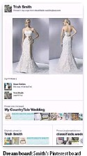 ??  ?? Dream board: Smith's Pinterest board shows the dress she tried on.