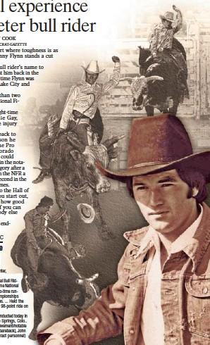 ?? Photos courtesy of Denny Flynn and Pro Rodeo Cowboys Association Photo Illustration/GREG MOODY ??