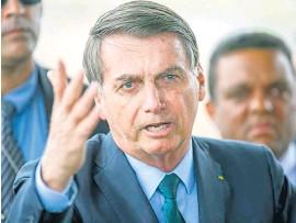 ?? AFP ?? Bolsonaro volvió a desafiar la medicina y el sentido común.