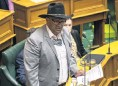 ?? PHOTO: THE NEW ZEALAND HERALD ?? Maori Party coleader Rawiri Waititi wearing a tiki, instead of a tie, in Parliament on Tuesday.