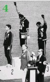 ??  ?? Tommie Smith and John Carlos were sent home for their dais protest. 4