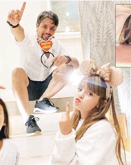 ??  ?? La hija de Daniel Valenzuela ha participado en teleseries y comerciales desde temprana edad. Daniel Valenzuela dice que a Alondra le encanta actuar y lo ve como un pasatiempo.