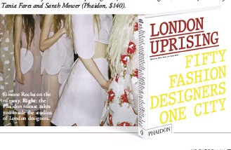 ??  ?? Simone Rocha on the runway. Right: the Phaidon release takes you inside the studios of London designers.