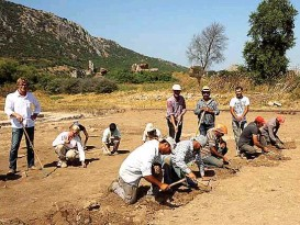 ??  ?? Die archäologischen Ausgrabungen laufen auf vollen Touren