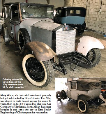 ??  ?? Following a storied life across the pond, this 20hp has settled in the UK for a full restoration