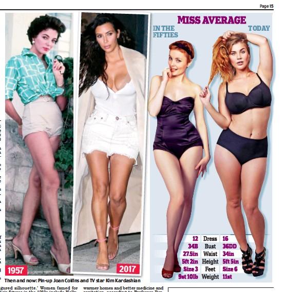 ee451407d4 Then and now  Pin-up Joan Collins ollins and TV star Kim KimKardashian  Kardashian