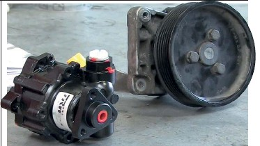 ??  ?? Prior to dismounting the pump, check that you do not need to swap over the pulley from your old unit. Many remanufactured pumps have a surcharge fee added, which is refunded when the remanufacturer receives your old pump in good order. 5