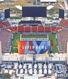 ?? MIKE EHRMANN/ GETTY IMAGES ?? An aerial view of Raymond James Stadium on Sunday ahead of next week's Super Bowl 55.
