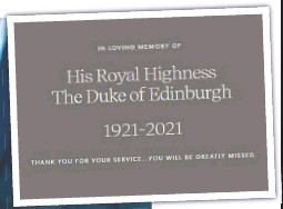 ??  ?? Prince Harry and Prince Philip (main, inset left); and (below) the Queen and Philip meet Harry and Meghan's son Archie; and (above) the Sussexes' tribute to Philip yesterday on their website.