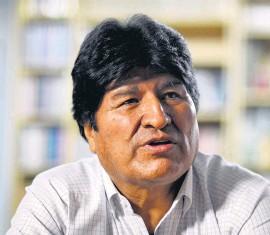 ?? Adrián Pérez ?? El expresidente Evo Morales tiene 61 años.