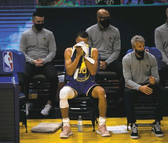 """?? Stephen Lam / The Chronicle ?? Stephen Curry cautioned against complacency ahead of the Warriors' stretch of six home games: """"You've got to stayed locked in mentally on the task at hand of finishing out the season."""""""