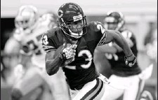 ?? By TimSharp, AP ?? Game-changer: Bears coach Lovie Smith isn't happy that top return man Devin Hester, above, figures to be less of a weapon with the newkickoff rule.
