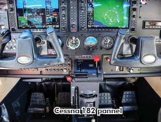 ??  ?? Cessna 182 pannel
