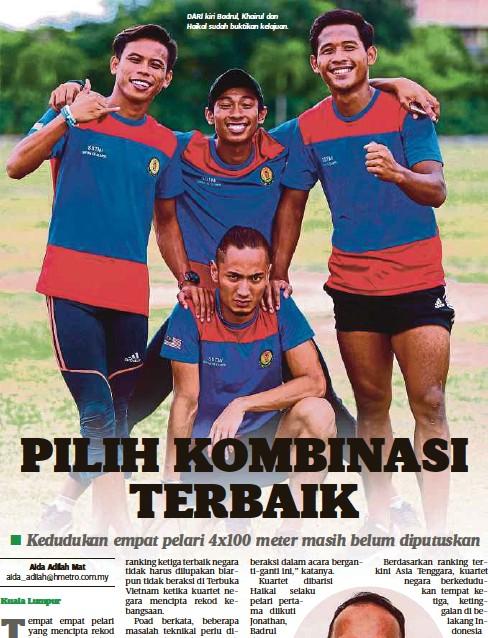 ??  ?? DARI kiri Badrul, Khairul dan Haikal sudah buktikan kelajuan.